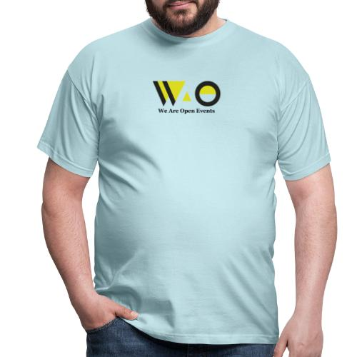WAO y Letras color - Camiseta hombre