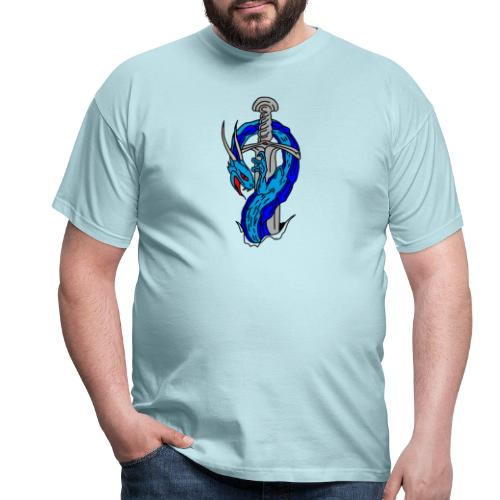 daga dragon vectorizado - Camiseta hombre
