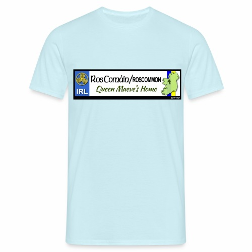 ROSCOMMON, IRELAND: licence plate tag style decal - Men's T-Shirt