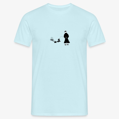 Pissing Man against unfairness - Männer T-Shirt