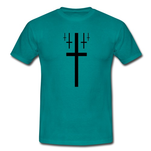 cross christus god jesus black - Men's T-Shirt