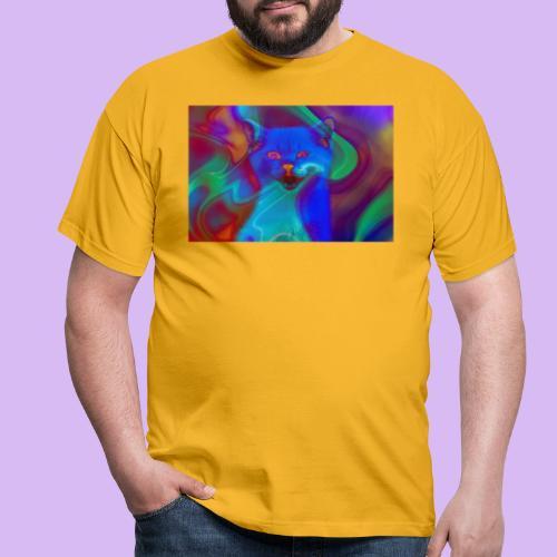 Gattino con effetti neon surreali - Maglietta da uomo