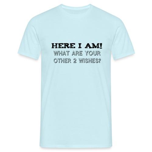 TÄSSÄ MINÄ OLEN - Miesten t-paita