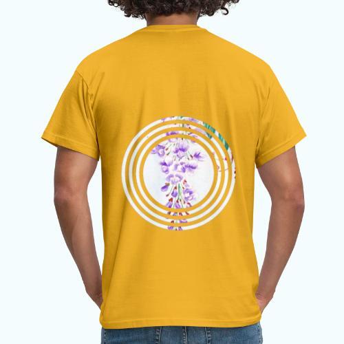 Japan vintage flowers watercolor - Men's T-Shirt