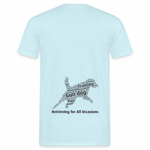 Retrieving for All Occasions wordcloud svart - T-shirt herr