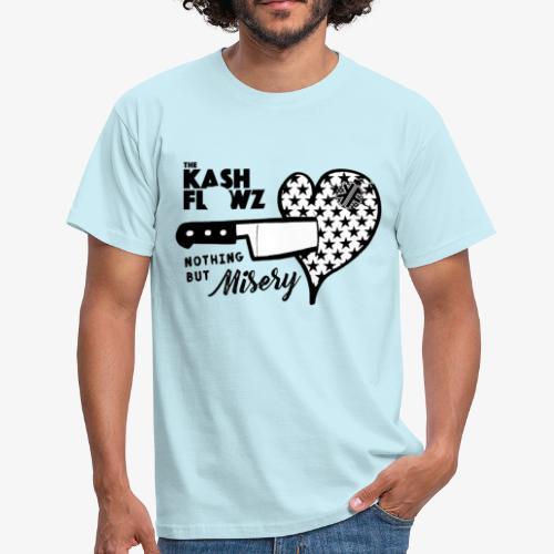 Nothing But Misery Knife Heart Black - T-shirt Homme