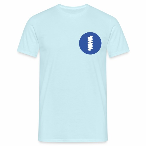 logomark in circular blue - Men's T-Shirt