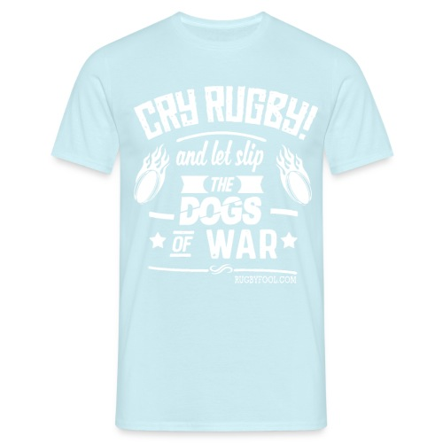 Cry Rugby White On Transparent - Men's T-Shirt