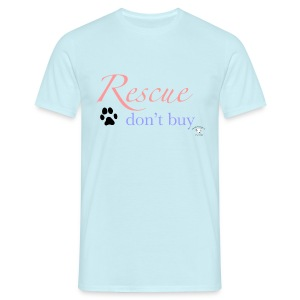 Rescue don't buy - Men's T-Shirt