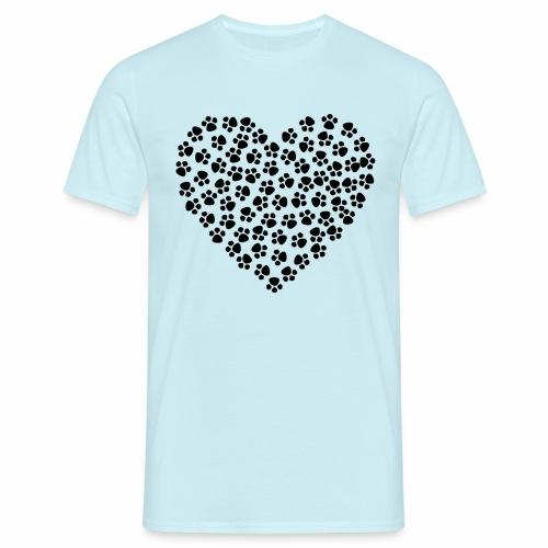 Heart made of Paws - Männer T-Shirt