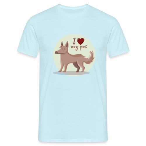 I love my pet - Camiseta hombre
