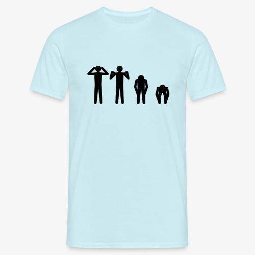 Hode, skulder, kne og tå - T-skjorte for menn