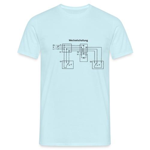 Wechselschaltung schwarz - Männer T-Shirt