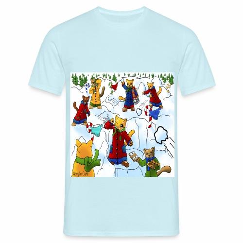 Christmas Snowball Cats 2 - Men's T-Shirt
