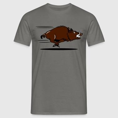 wyścig dzik - Koszulka męska