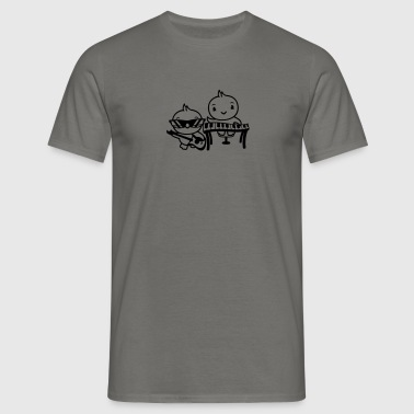 piano tangenterna heavy metal band hårdrock electr - T-shirt herr