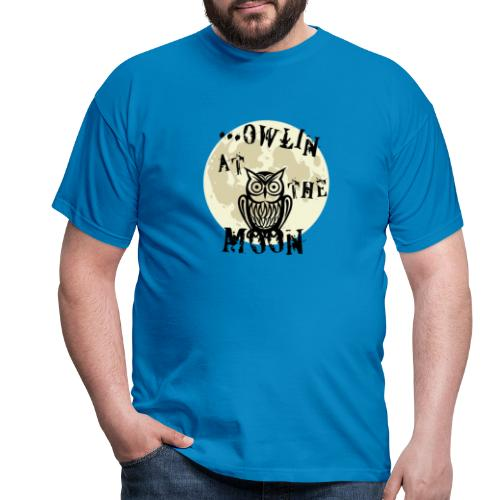 Owlin At The Moon - T-shirt herr