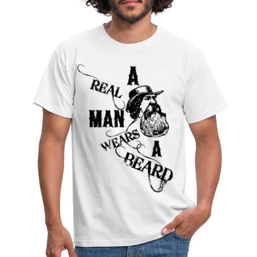A Real Man Wears A Beard - T-shirt herr