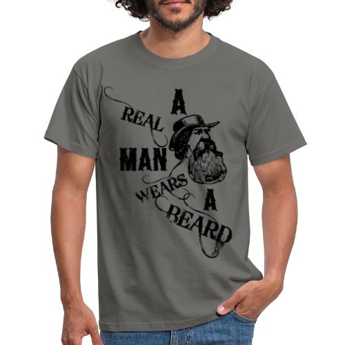 A Real Man Wears A Beard - T-shirt herr