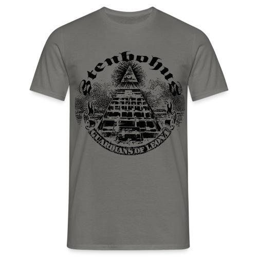 GuardidansOfLeona transparent destressed black - Herre-T-shirt