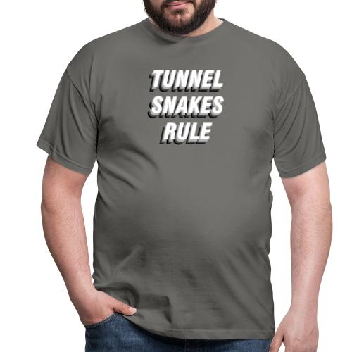 Tunnel Snakes Rule - Männer T-Shirt