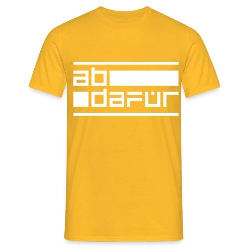 abdafür - Männer T-Shirt