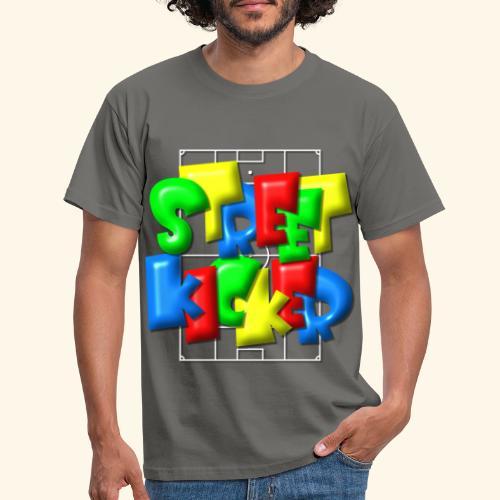 Streek Kicker im Fußballfeld - Balloon-Style - Männer T-Shirt