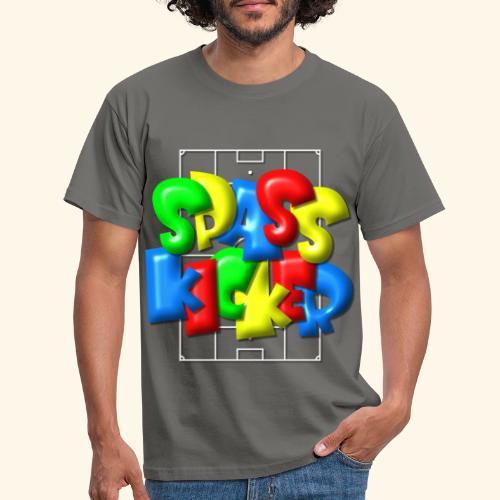 Spass Kicker im Fußballfeld - Balloon-Style - Männer T-Shirt