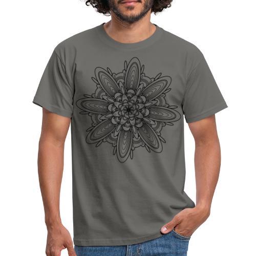 bloem mandala - Mannen T-shirt