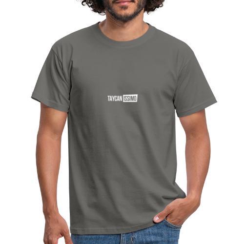 Taycanissimo logo white transparent - Mannen T-shirt