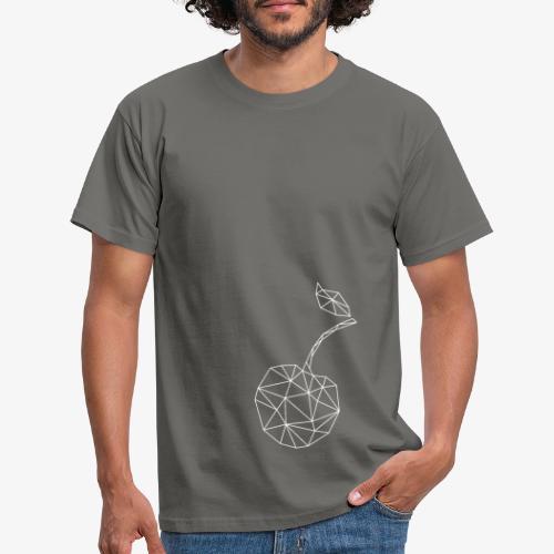 Frucht Kirsche geometrisch - Männer T-Shirt