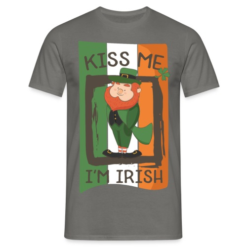 St. Patrick's Day Leprechaun - I'm Irish - Kiss Me - Men's T-Shirt