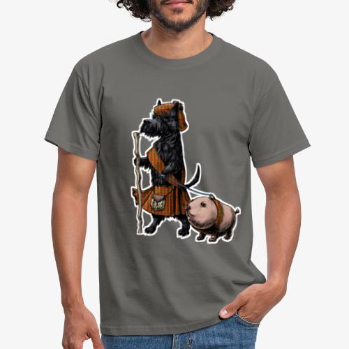 Scottie and Haggis dark t - Men's T-Shirt