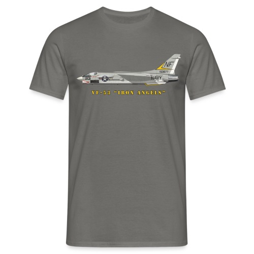 F-8J Crusader VF-53 Iron Angels - T-shirt Homme