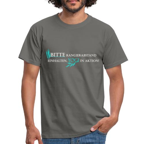 Yogi in Aktion Yoga tuerkis - Männer T-Shirt