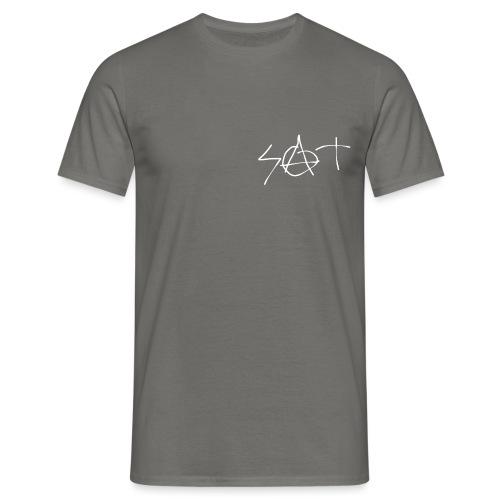 S.A.T. logo white - Herre-T-shirt
