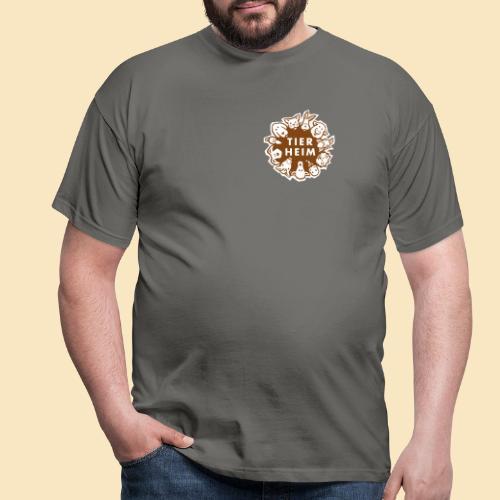 Tierheim Logo braunweiss - Männer T-Shirt