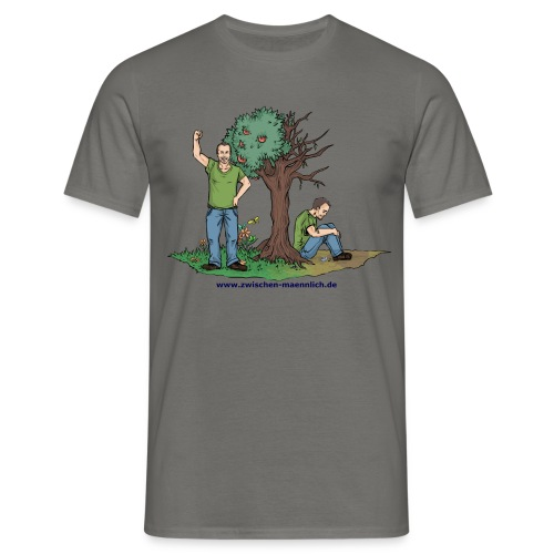 zwischen maennlich - Männer T-Shirt