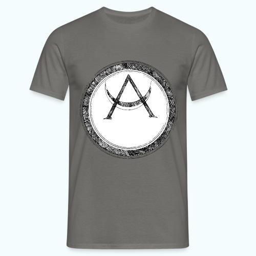 Mystic motif with sun and circle geometric - Men's T-Shirt