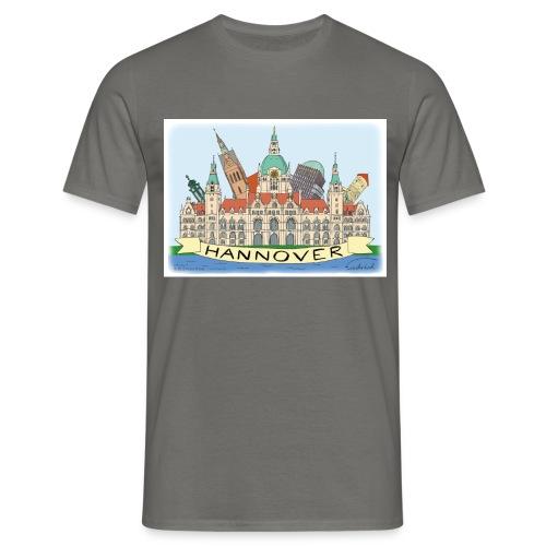Hannover Rathaus Sehenswürdigkeiten Comic Style - Männer T-Shirt
