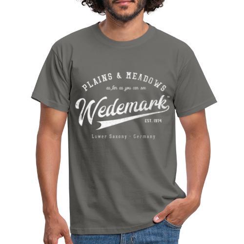 Wedemark Retrologo - Männer T-Shirt
