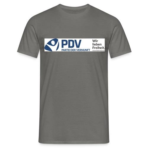 PDV Logo neu BW3 jpg - Männer T-Shirt