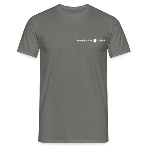 Innebandyavisen logo - hvit - T-skjorte for menn