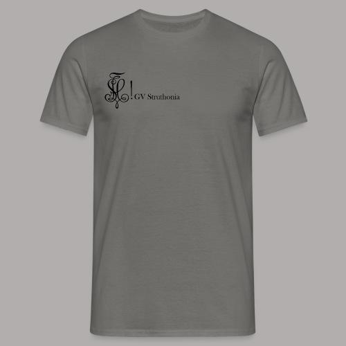 Zirkel mit Name, schwarz (vorne) - Männer T-Shirt
