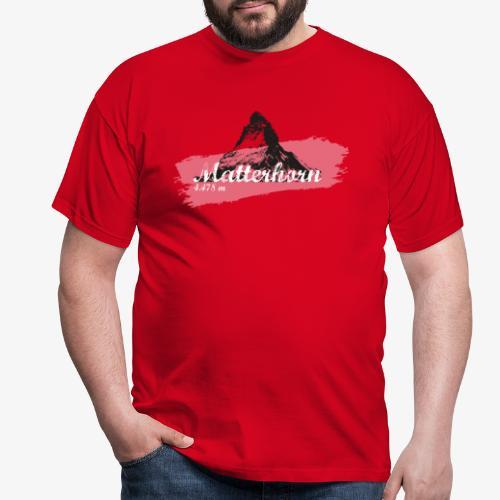 Matterhorn - Cervino - Color Coral - Men's T-Shirt