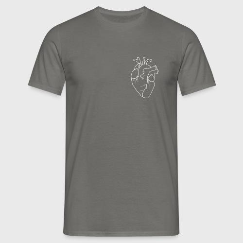 HerzWeiß-11 - Männer T-Shirt