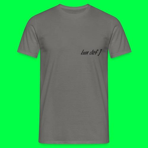 lux def: brand brustherz heart logo lable - Männer T-Shirt