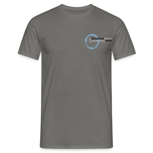 Logo colored bg enso blue 02 - T-shirt herr