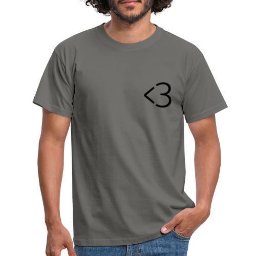 <3 - Herre-T-shirt