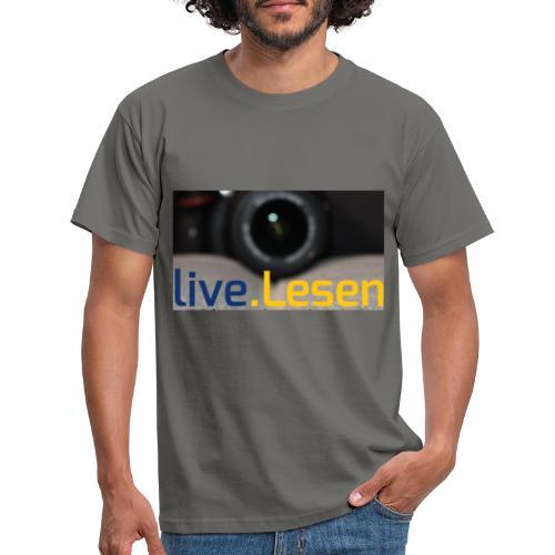 live.Lesen Foto - Männer T-Shirt